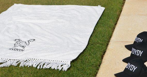 White Organic Beach Towel