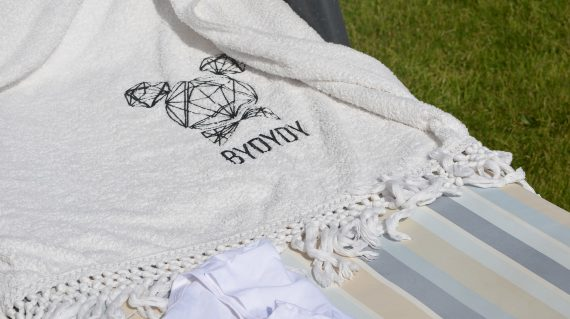 White Organic Beach Towel
