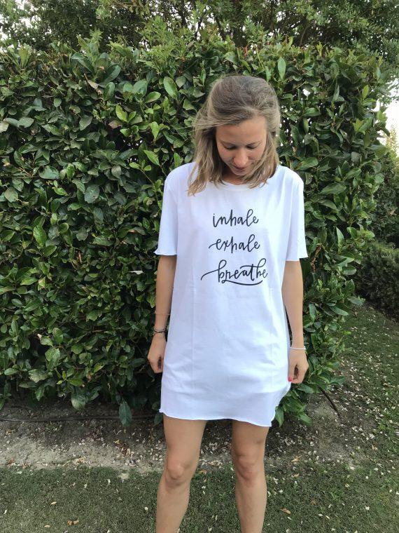 """""""Inhale, Exhale, Breathe"""" Camiseta Algodon Organico"""